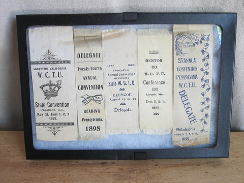 1890s Victorian WCTU Delegate Ribbons - Yesteryear Essentials  - 1