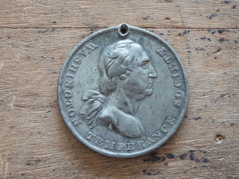 Rare Washington Temperance Society House of Temperance Coin by Robert Lovett Sr - Yesteryear Essentials  - 1