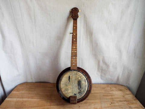 Vintage Surale Wooden 5 String Banjo Musical Instrument - Yesteryear Essentials  - 1