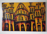 "Vintage Signed Oil on Canvas Cuban Cityscape - 48"" by 31"" - Yesteryear Essentials  - 2"