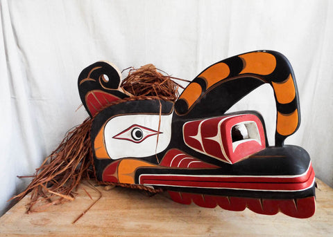 Vintage Northwest Ceremonial Tribal Mask - Yesteryear Essentials  - 1