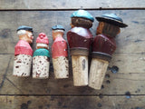 Vintage Set of 5 Anri Wood Carving Wine Stoppers - Yesteryear Essentials  - 6