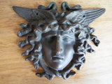 Vintage Bronze winged Medusa Plaque Medal Medallion - Yesteryear Essentials  - 11