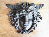 Vintage Bronze winged Medusa Plaque Medal Medallion - Yesteryear Essentials  - 8