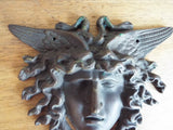 Vintage Bronze winged Medusa Plaque Medal Medallion - Yesteryear Essentials  - 10