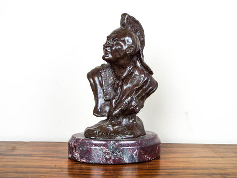 """My Bronze Indian"" Bronze Sculpture by James P Regimbal - Yesteryear Essentials  - 1"