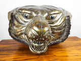 Vintage Signed Sergio Bustamante Lifesize Tiger Head Copper & Brass Sculpture 12/100 - Yesteryear Essentials  - 1