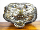 Vintage Signed Sergio Bustamante Lifesize Tiger Head Copper & Brass Sculpture 12/100 - Yesteryear Essentials  - 10