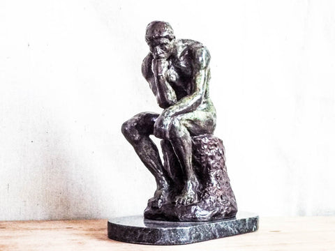 Vintage August Rodin Bronze Sculpture ~ The Thinker - Yesteryear Essentials  - 1