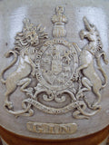 Antique Doulton Crock Gin Keg ~ Royal Coat of Arms - Yesteryear Essentials  - 2