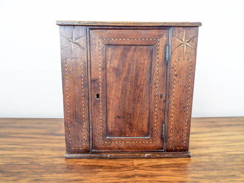 Antique Primitive Wooden Mahogany Cabinet Case With Secret Drawers - Yesteryear Essentials  - 1