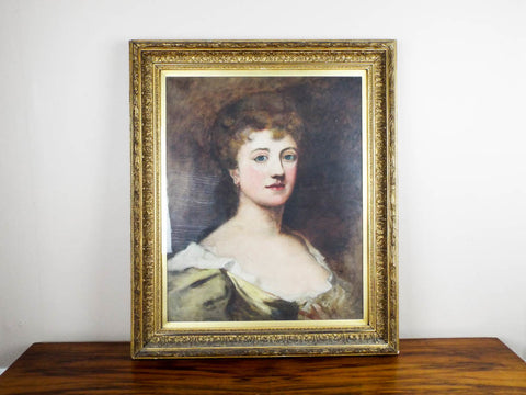 Antique Oil on Canvas Portrait Painting of Lady by Ethel Mortlake (1865 -1928) - Yesteryear Essentials  - 1