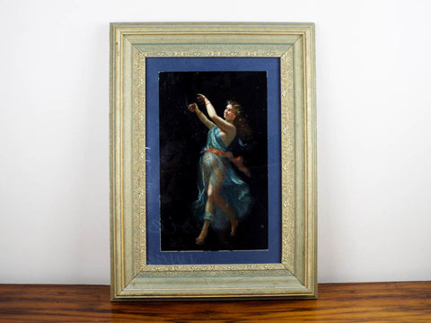 Antique Oil on Paper La Danza Pompeii Dancing Maenad 18th/19th Century - Yesteryear Essentials  - 1