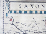 Antique 1630s Map ~ Saxonia Superior Cum Lusatia et Misnia William Blaeu - Yesteryear Essentials  - 8