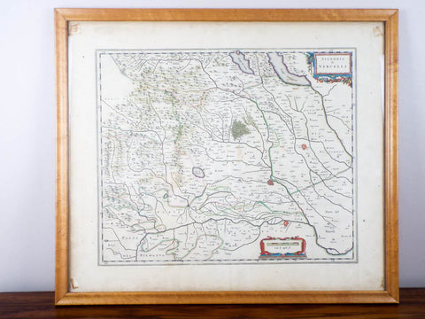 1600s Framed Antique Map ~ Signoria di Vercelli, Italy - Yesteryear Essentials  - 1