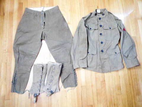 Antique US Military WW1 Medic Uniform - Yesteryear Essentials  - 1