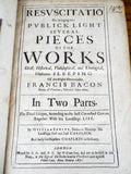 Antique 1671 Leather Bound Resuscitatio by Francis Bacon - Yesteryear Essentials  - 2