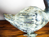 Vintage Metal Birds Pair of Geese Statues Garden Decor Statuary - Yesteryear Essentials  - 7