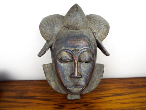 Antique African Gabon Punu Tribal Wooden Mask - Yesteryear Essentials  - 1