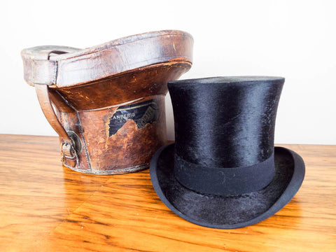 Victorian Youmans Top Hat & Leather Case - Yesteryear Essentials  - 1