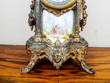 French Louis XV Style 19th C Vincenti Sevres Style Mantel Clock - Yesteryear Essentials  - 9