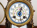 French Louis XV Style 19th C Vincenti Sevres Style Mantel Clock - Yesteryear Essentials  - 2