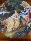 Antique 19th C Framed Miniature Scenic Paintings After Boucher - Yesteryear Essentials  - 7