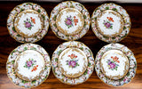 "Antique German Carl Thieme Potschappel Porcelain 10"" Dishes"