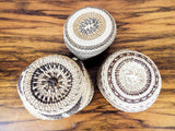 Set of 3 Soft Twined Klamath Modoc Small Baskets w Quill Decoration - Yesteryear Essentials  - 10