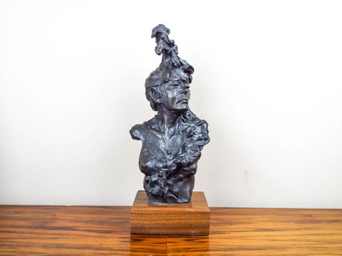 Signed Bronze Female Bust Sculpture by  Peter M Fillerup - Yesteryear Essentials  - 1