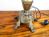 Antique Metal Tabletop Art Nouveau Adjustable Table Lamp Light 1900's