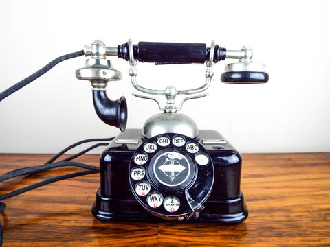 Antique Rotary Dial Danish Kjobenhavns Telefon Telephone - Yesteryear Essentials  - 1