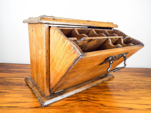 Antique Wooden Drop Apothecary Case - Yesteryear Essentials  - 1
