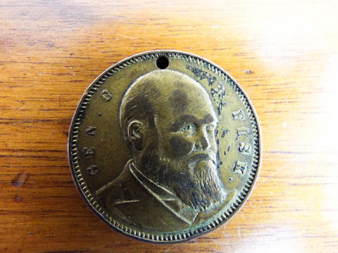 Antique Temperance Movement 1888 Gen Clinton B Fisk The Saloon Must Go Coin Medal Medallion