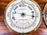 Vintage English Brass Ship Nautical Barometer by Emory & Douglas Co Ltd