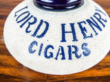 Rare Vintage Advertising Lord Henry Cigars Stoneware Ceramic Match Holder