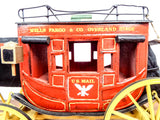 Original Hand Carved Oscar M Cortes Red Wells Fargo US Mail Stagecoach Model