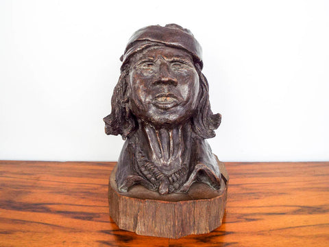 Bronze Indian Chief Sculpture ~  Hank Richter (1928- )