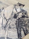 RL Vintage Signed Western Cowboy Watercolor Painting by M Martin - Yesteryear Essentials  - 4