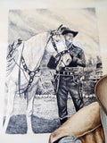 RL Vintage Signed Western Cowboy Watercolor Painting by M Martin - Yesteryear Essentials  - 8