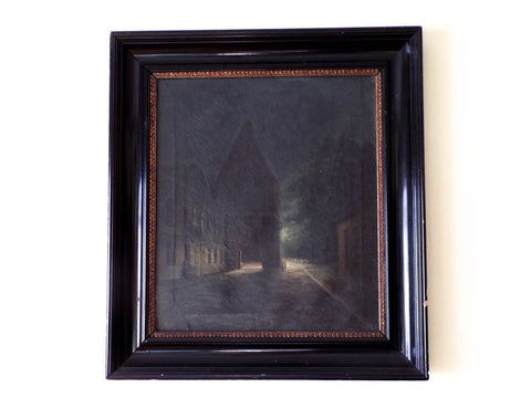 RL Antique 19th C Signed Oil on Canvas Painting by Godtfred Rump (1816 - 1880) Danish Artist