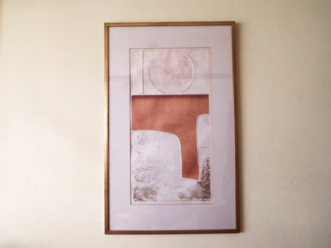 RL Vintage Mid Century Original Signed Abstract P Norcross Print Artists Proof