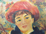 "Signed Oil On Canvas Painting ~ O Langdon ~ ""On The Terrace' after Renoir"