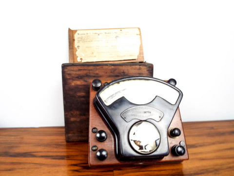 Antique Weston Direct Current Voltmeter with Wooden Case
