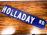 Vintage Metal & Enamel Road Sign ~ Holladay Rd, Los Angeles