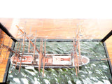 Antique 1886 Model Boston Ship New England Shadow Box Model