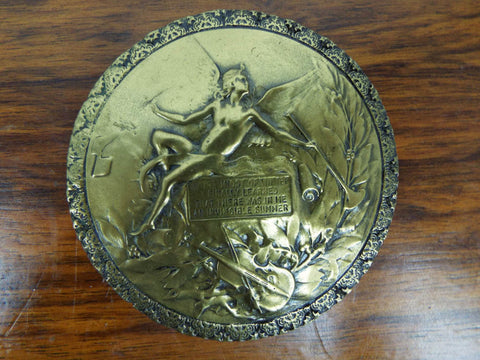 Vintage Cold Cast Bronze Medallion by Giovanni Schoeman