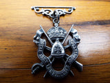 Antique Victorian Religious Silver Royal Army Temperance Medal British Army