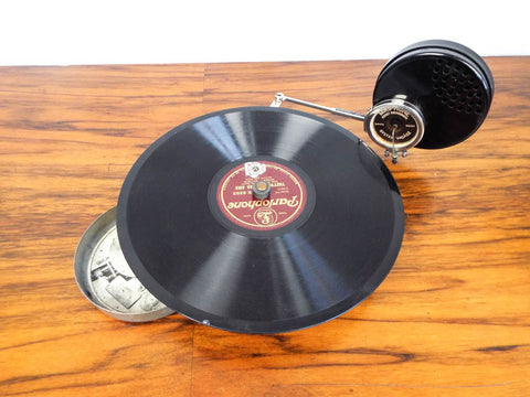 Antique Vadasz Bro Mikiphone Pocket Phonograph
