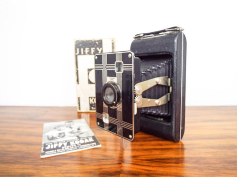 Art Deco Jiffy Kodak Six 20 Folding Camera with Twindar Lens